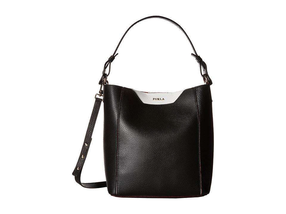 Furla - Fantasia Small Bucket Bag (Onyx) Shoulder Handbags