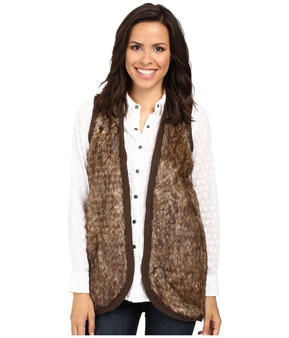 Ariat - Aileen Fur Vest (Brown) Women's Vest