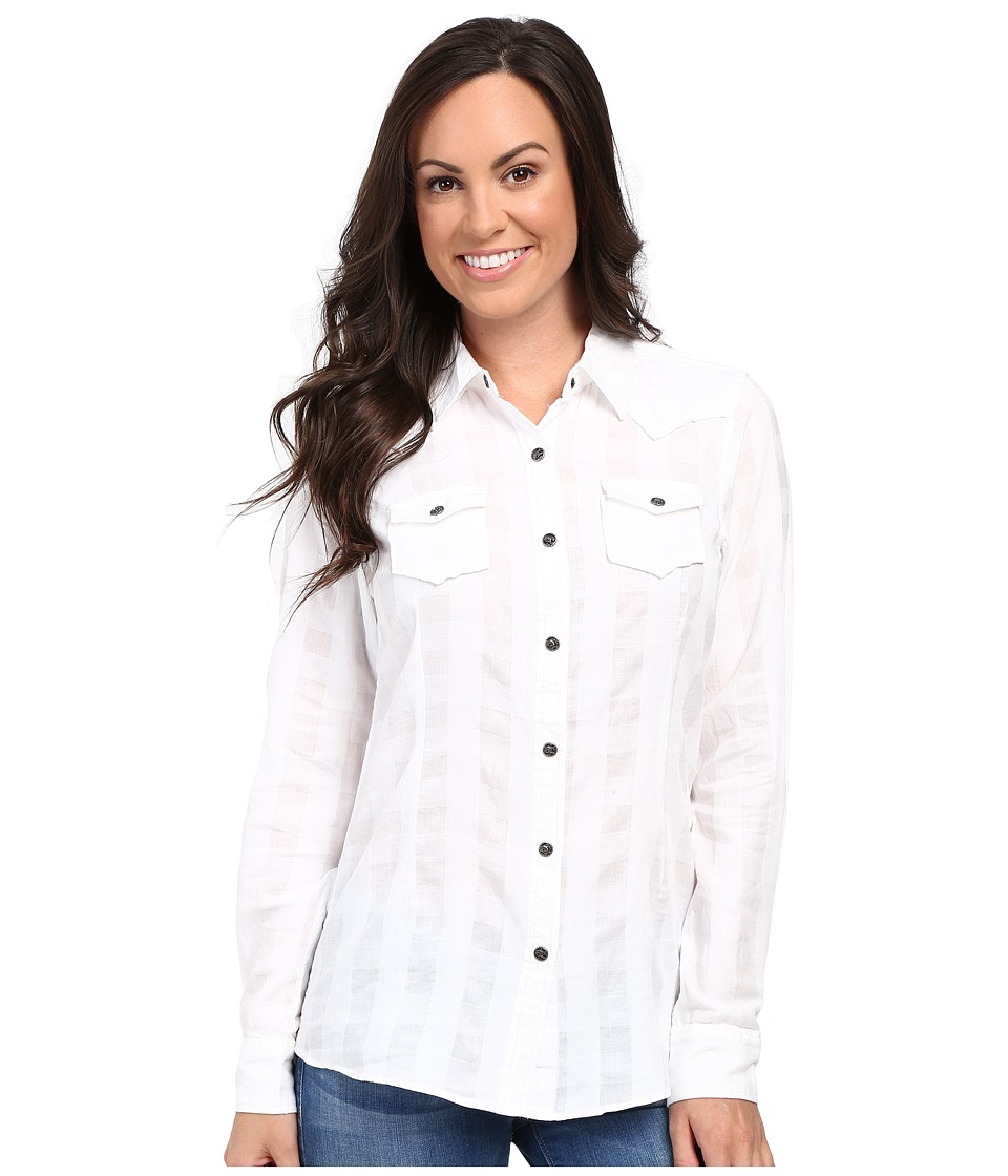 Ariat - Buffalo Snap Shirt (White) Women's Clothing