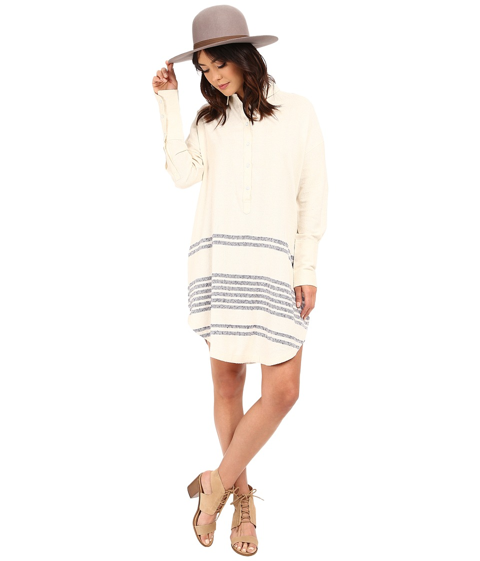 Free People - Beauty Long Sleeve Top (Tea Combo) Women's Dress