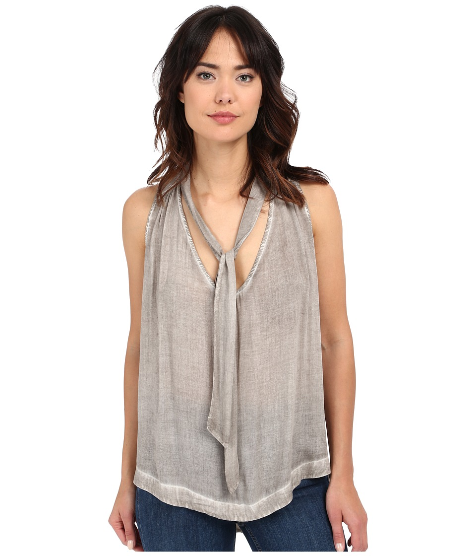 Free People - Washed Tuck In Shirt (Dark Khaki) Women's Blouse