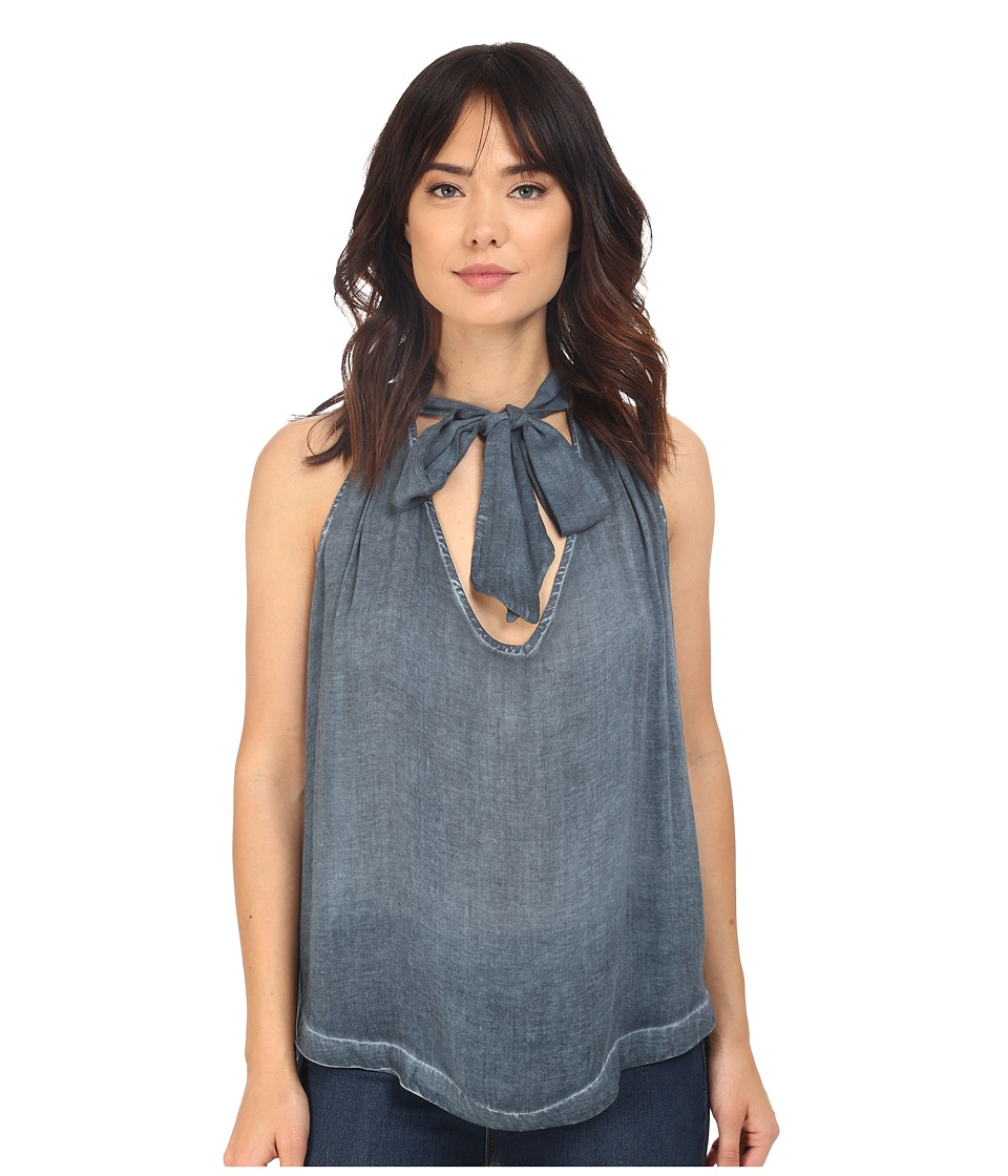 Free People - Washed Tuck In Shirt (Blue) Women's Blouse