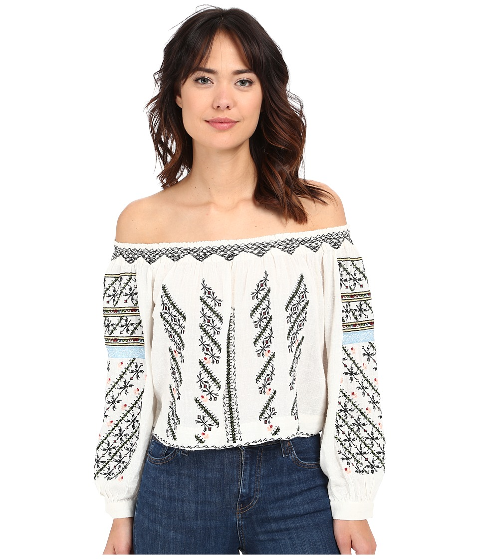 Free People - All I Need Embroidered Top (Ivory Combo) Women's Blouse