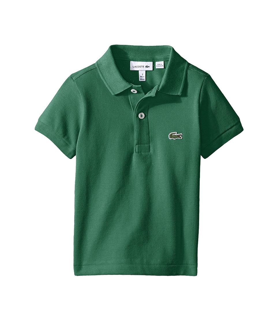 Lacoste Kids - Short Sleeve Classic Pique Polo Shirt (Toddler/Little Kids/Big Kids) (Menthol Green) Boy's Short Sleeve Pullover