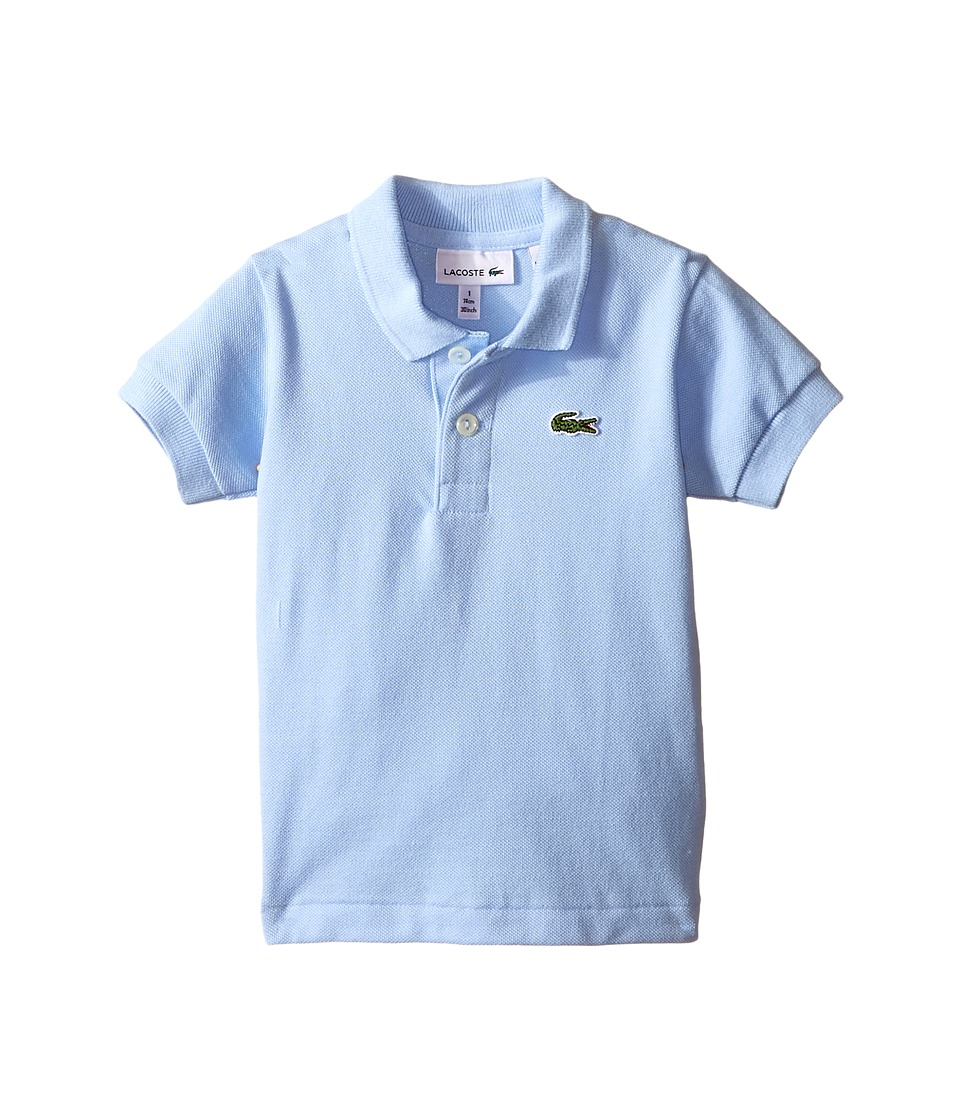 Lacoste Kids - Short Sleeve Classic Pique Polo Shirt (Toddler/Little Kids/Big Kids) (Nattier Blue 07E) Boy's Short Sleeve Pullover