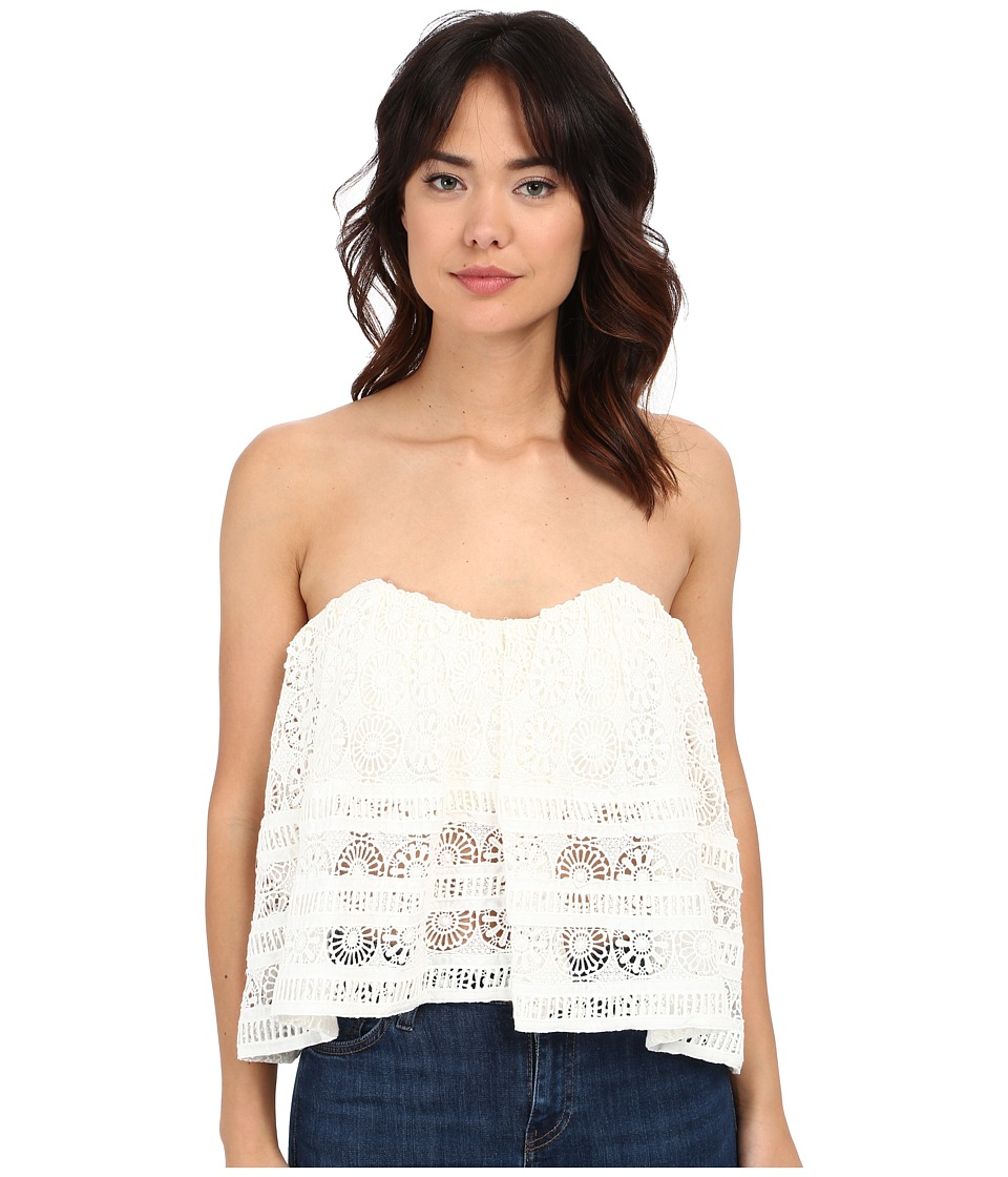 Free People - Sydney Lace Tube (Ivory) Women's Blouse