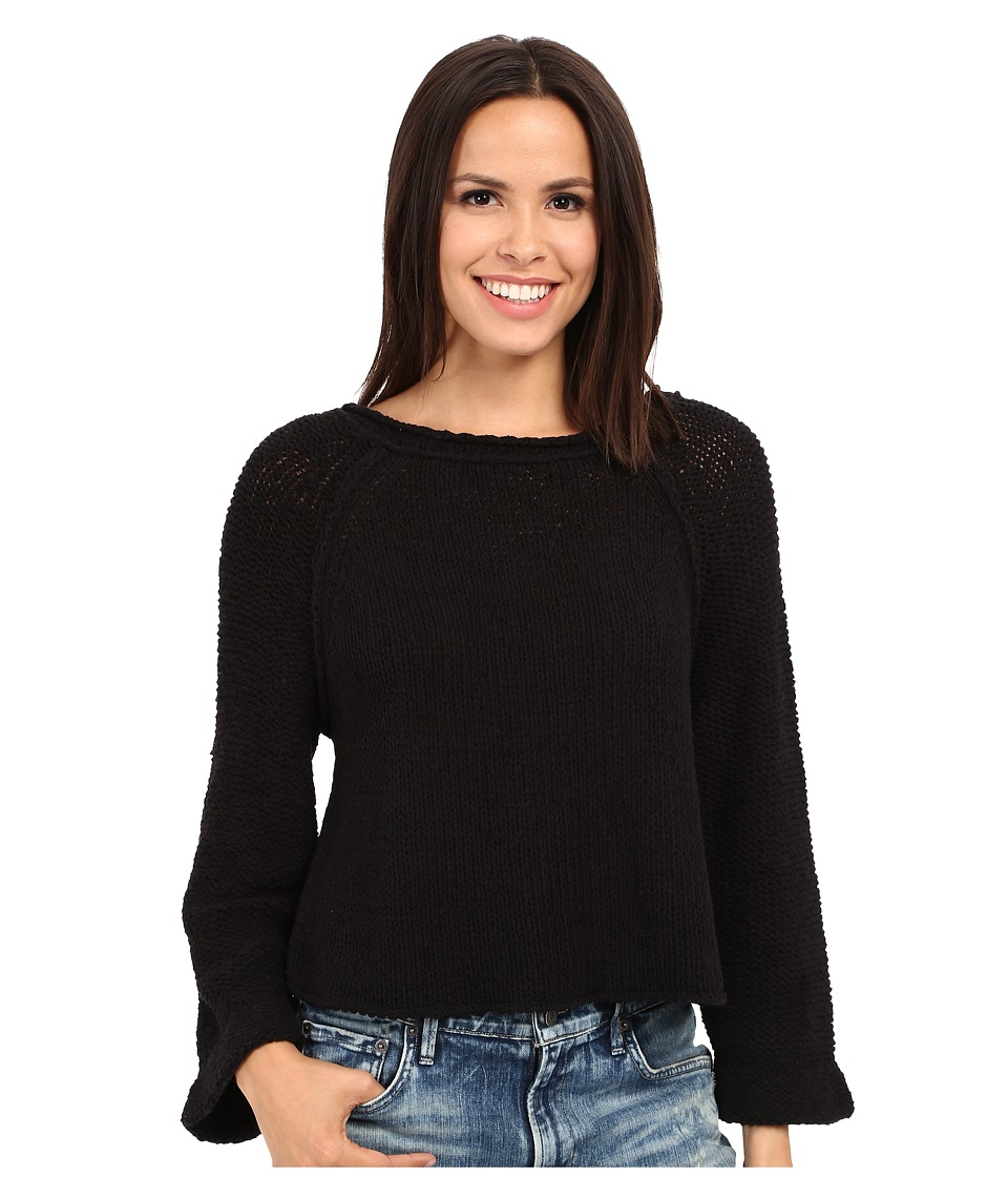 Free People - Endless Stories Pullover (Black) Women's Sweater