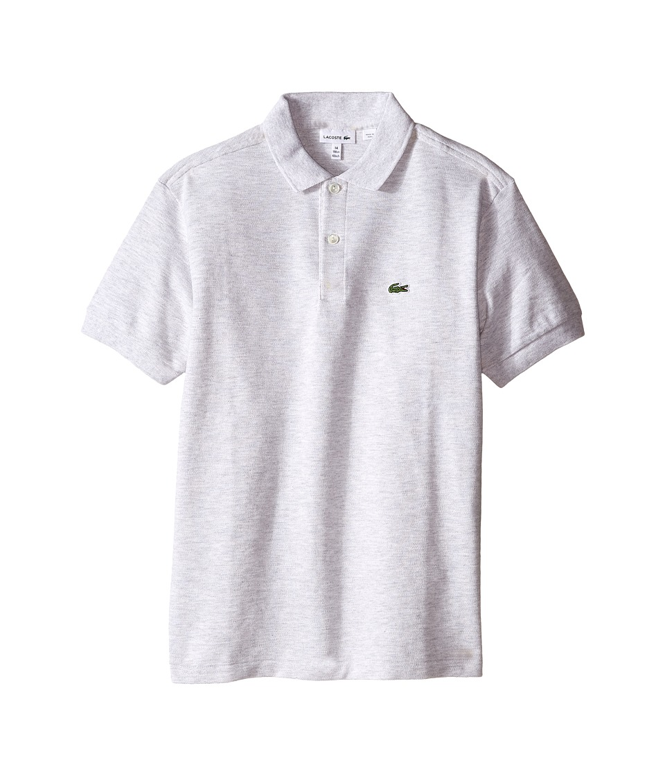 Lacoste Kids - Short Sleeve Classic Pique Polo Shirt (Toddler/Little Kids/Big Kids) (Dust Grey) Boy's Short Sleeve Pullover