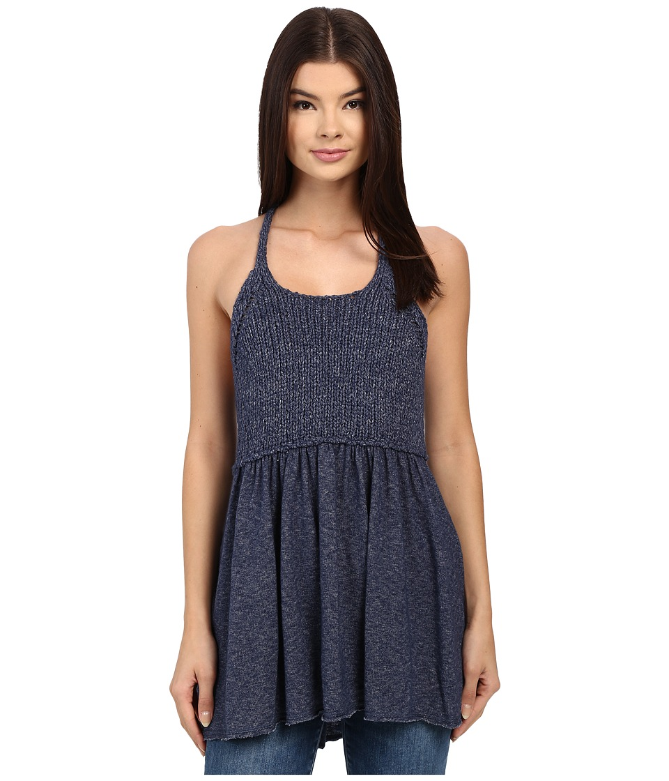Free People - Mountain View Tank Top (Navy) Women's Sweater