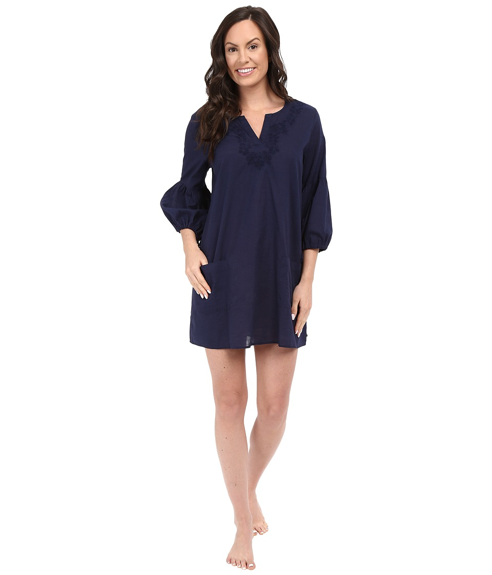 Lucky Brand - Embroidered Tunic (True Indigo) Women's Pajama