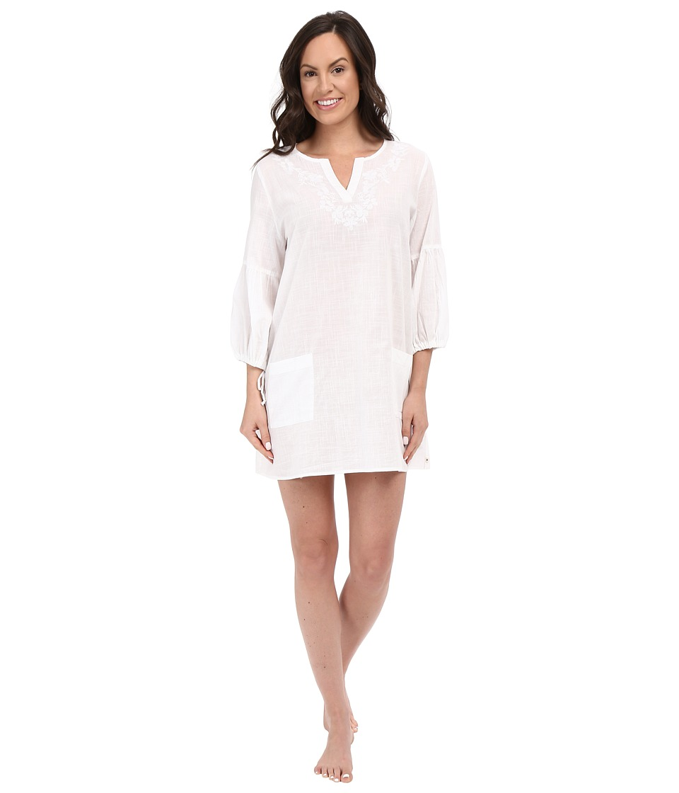 Lucky Brand - Embroidered Tunic (Parchment) Women's Pajama