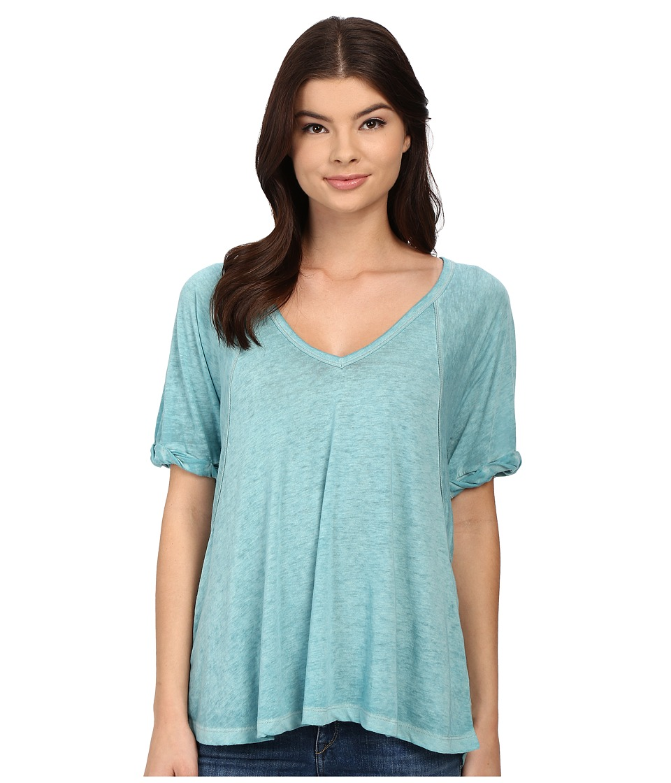 Free People - Tri-Blend Free Fallin (Dusty Jade) Women's Clothing