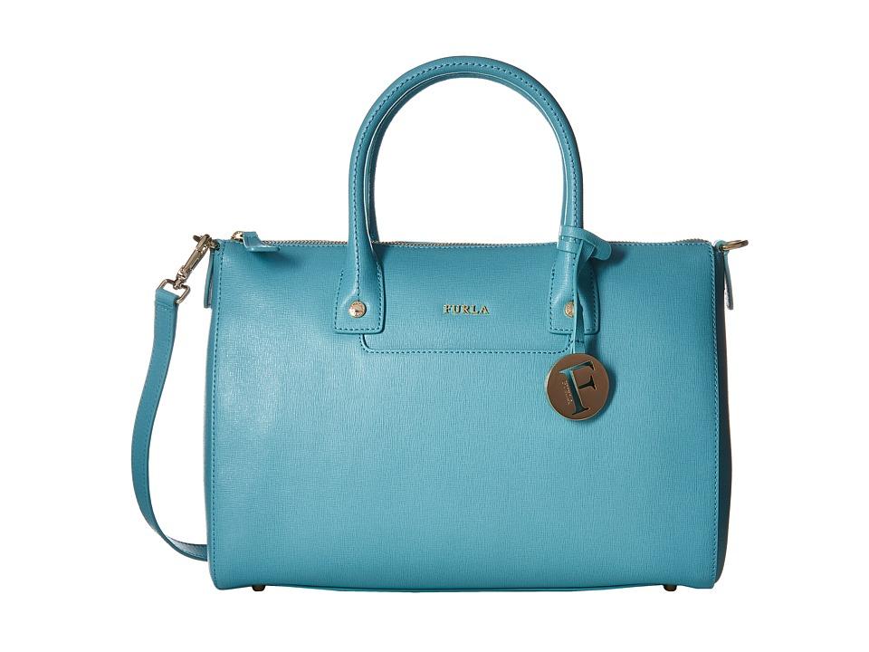Furla - Linda Medium Satchel (Acquamarina) Satchel Handbags