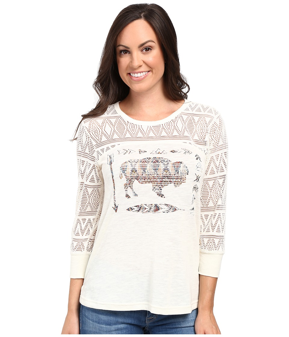 Ariat - Mel Graphic Tee (Whisper White) Women's T Shirt