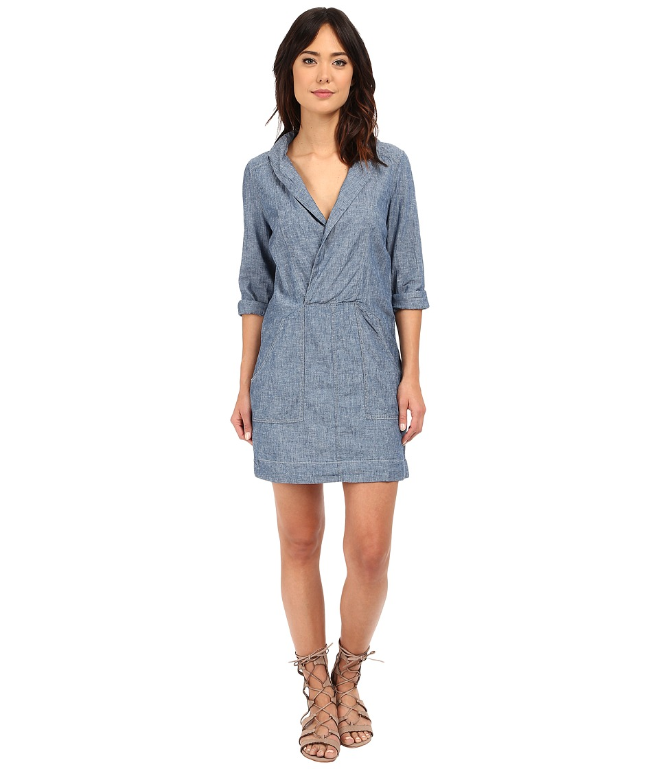 Free People - Done Up Denim Mini Dress (Sky Blue Combo) Women's Dress