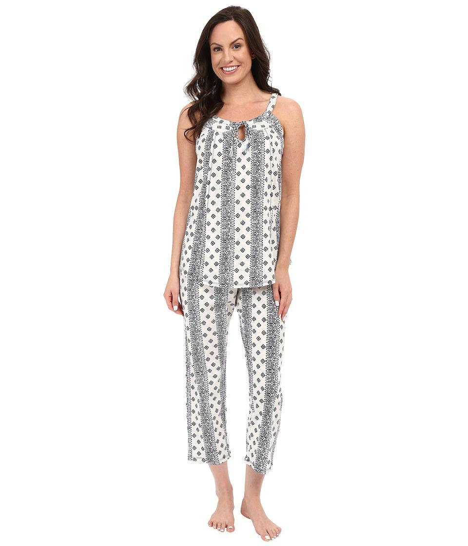 Lucky Brand - Tank Pajama (Aztec Mono Stripe) Women's Pajama Sets