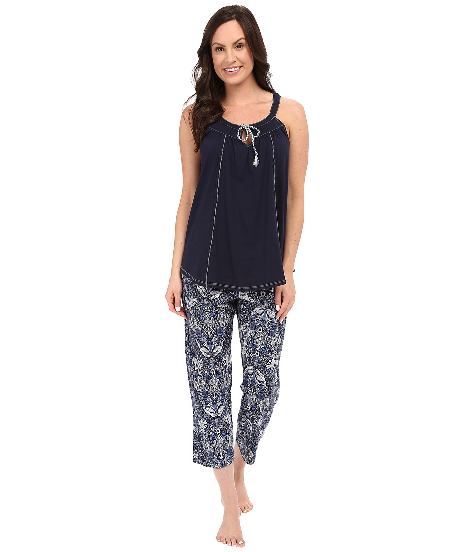 Lucky Brand - Tank Pajama (Damask Indigo) Women's Pajama Sets