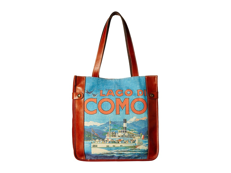 Patricia Nash - Travel Poster Tote (Como) Tote Handbags