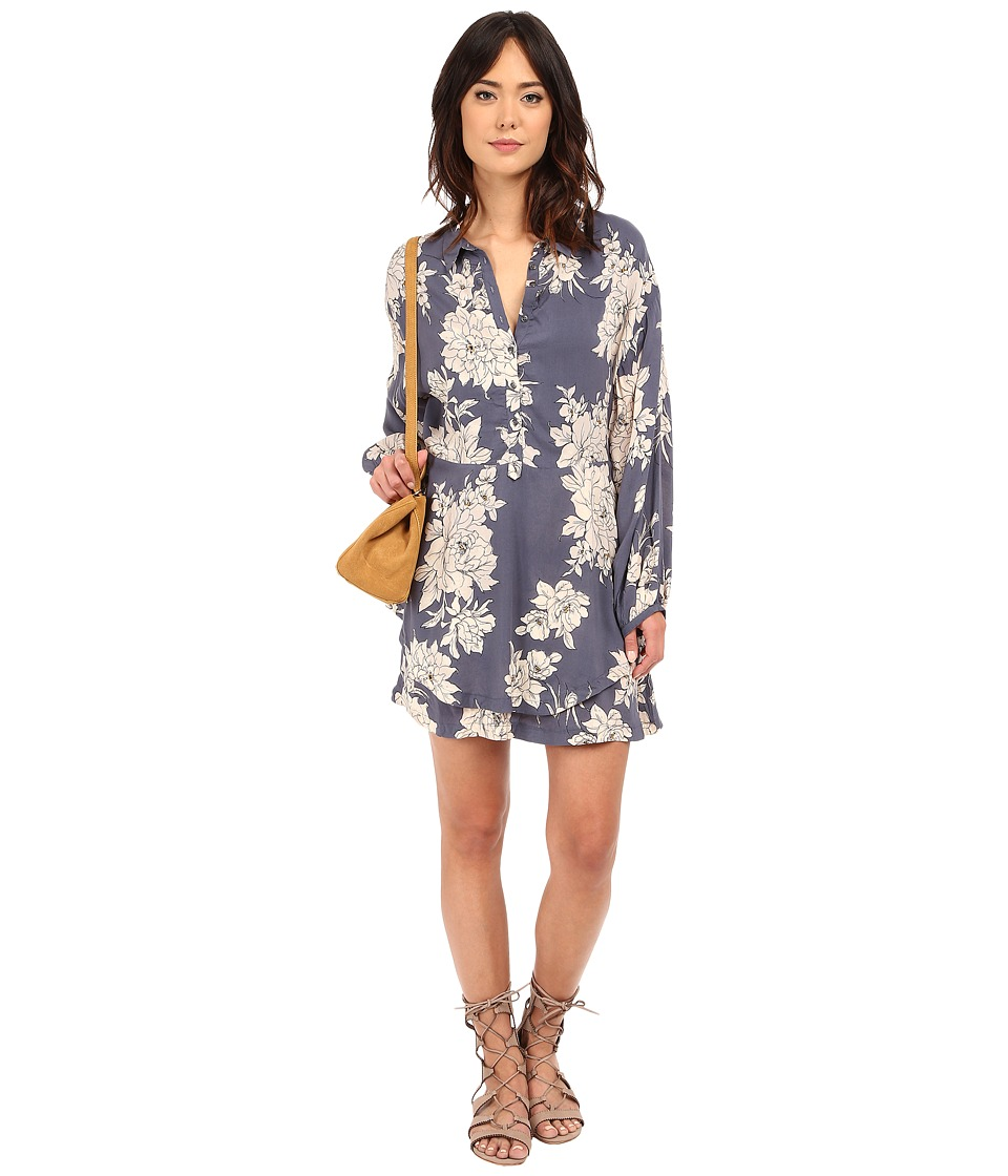 Free People - Shake It Printed Mini Dress (Marine Combo) Women's Dress