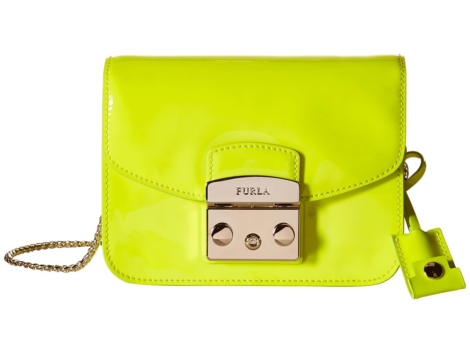 Furla - Metropolis Mini Crossbody (Jade Fluo) Cross Body Handbags
