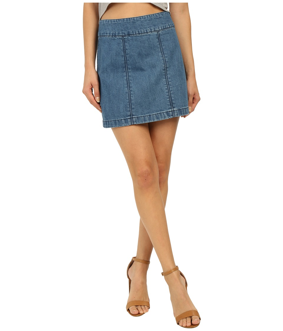 Free People - Zip To It Denim Mini Skirt (Chloe Combo) Women's Skirt