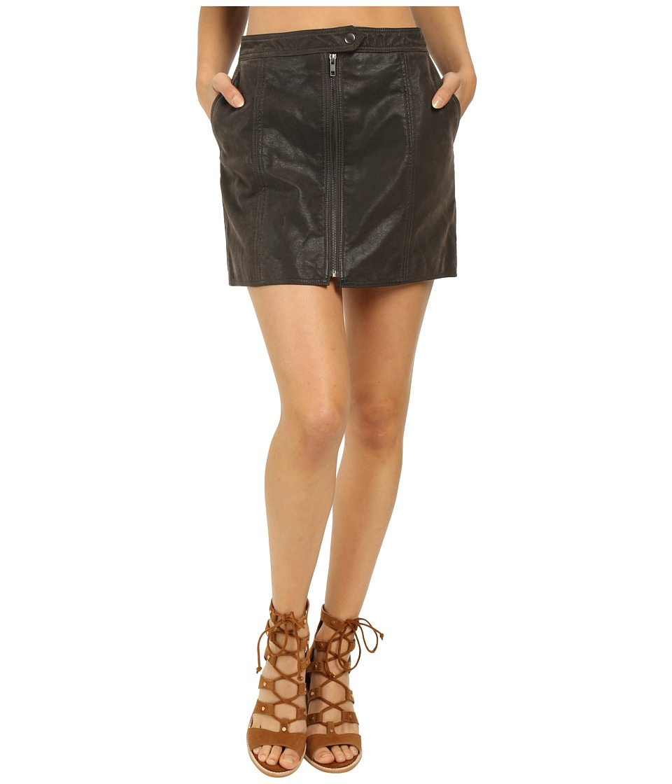 Free People - Get into the Groove Skirt (Concrete) Women's Skirt