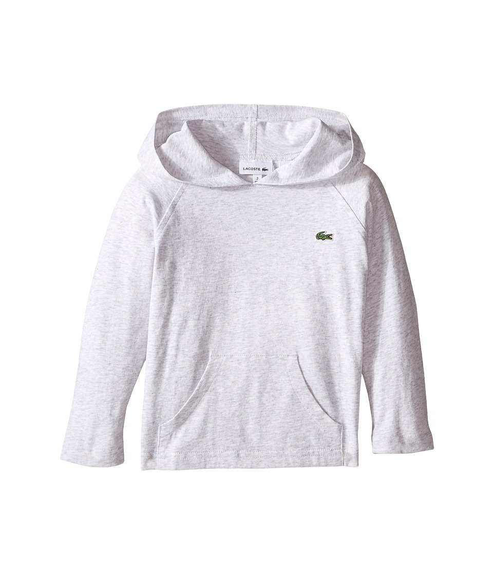 Lacoste Kids - L/S Jersey Hoodie Tee (Toddler/Little Kids/Big Kids) (Dust Grey) Boy's Sweatshirt