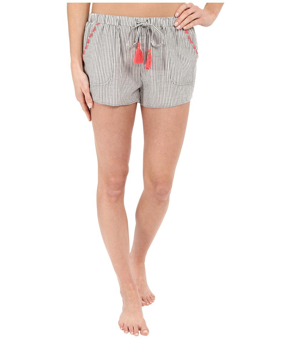 Lucky Brand - Woven Boxer (Pin Stripe Fern) Women's Pajama