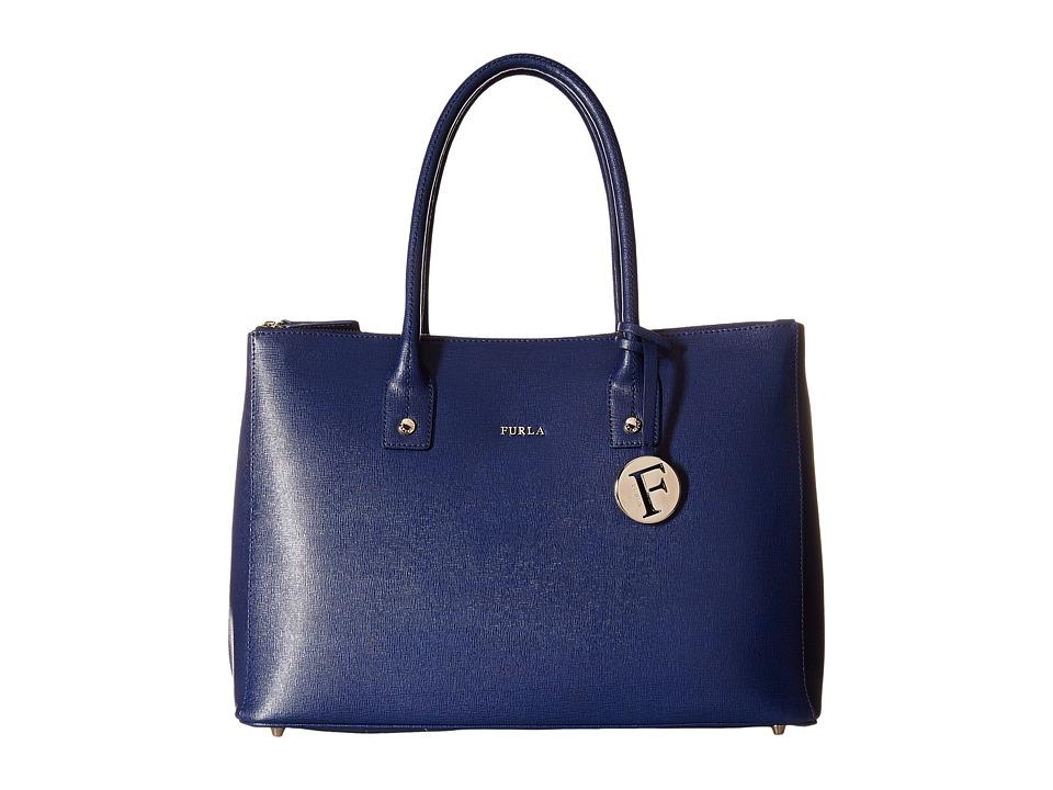 Furla - Linda Medium Carryall with Zip (Navy) Handbags