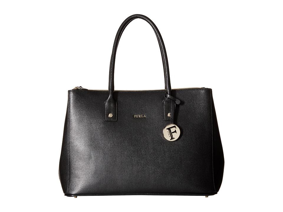 Furla - Linda Medium Carryall with Zip (Onyx) Handbags