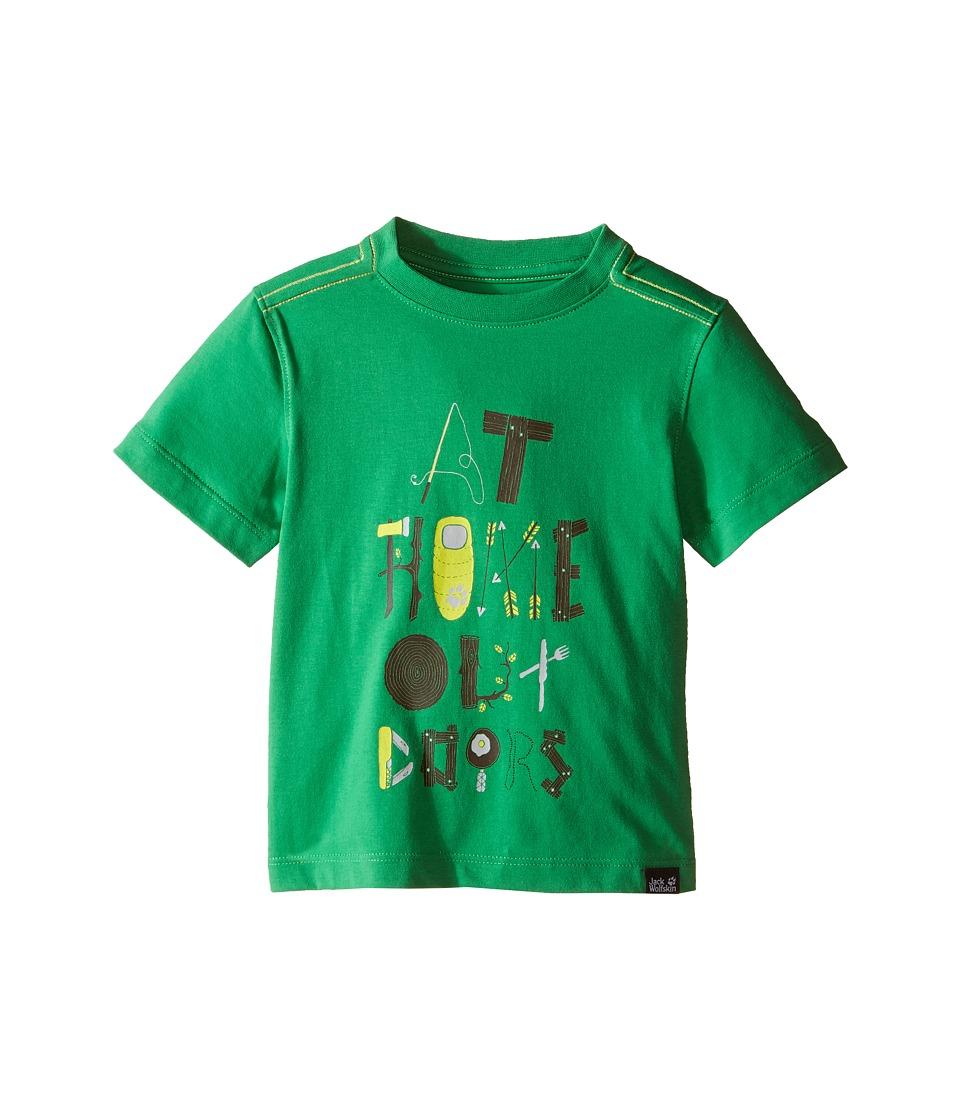 Jack Wolfskin Kids - Wilderness T-Shirt (Infant/Toddler) (Seagrass) Boy's Short Sleeve Pullover