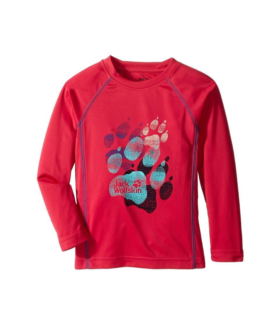 Jack Wolfskin Kids - Sunshade Long Sleeve (Infant/Toddler) (Pink Raspberry) Girl's Clothing