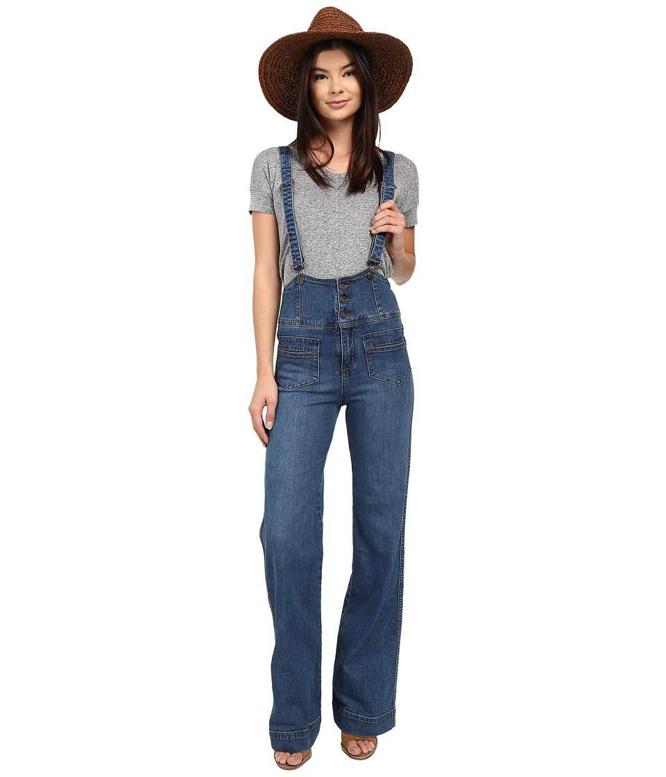 Free People - Penrose Flared Overall (Brightest Blue) Women's Overalls One Piece