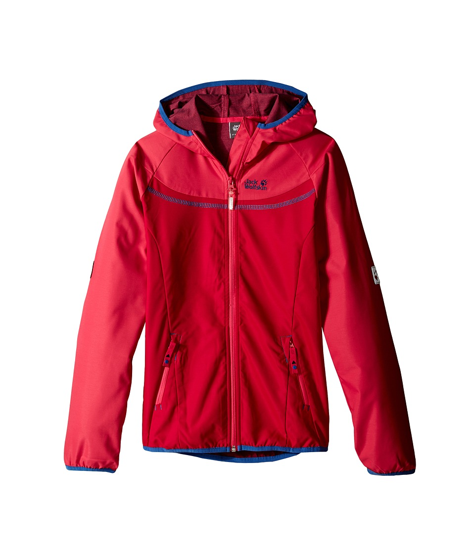 Jack Wolfskin Kids - Turbulence Jacket (Little Kid/Big Kid) (Azalea Red) Girl's Coat