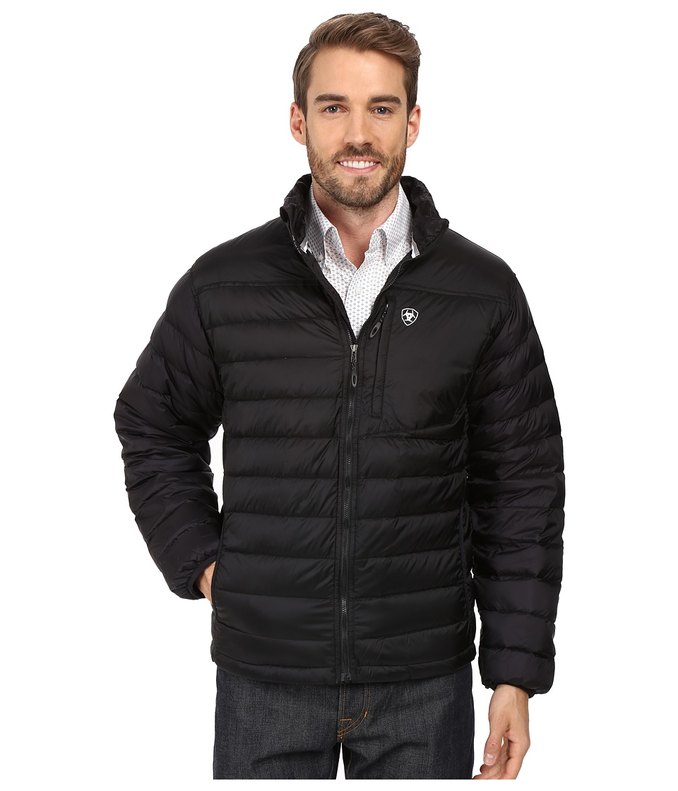 Ariat - Ideal Down Jacket II (Black) Men's Coat