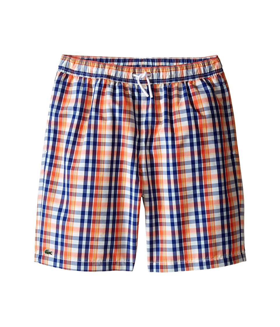 Lacoste Kids - Plaid Swim Shorts (Little Kids/Big Kids) (Print) Boy's Swimwear