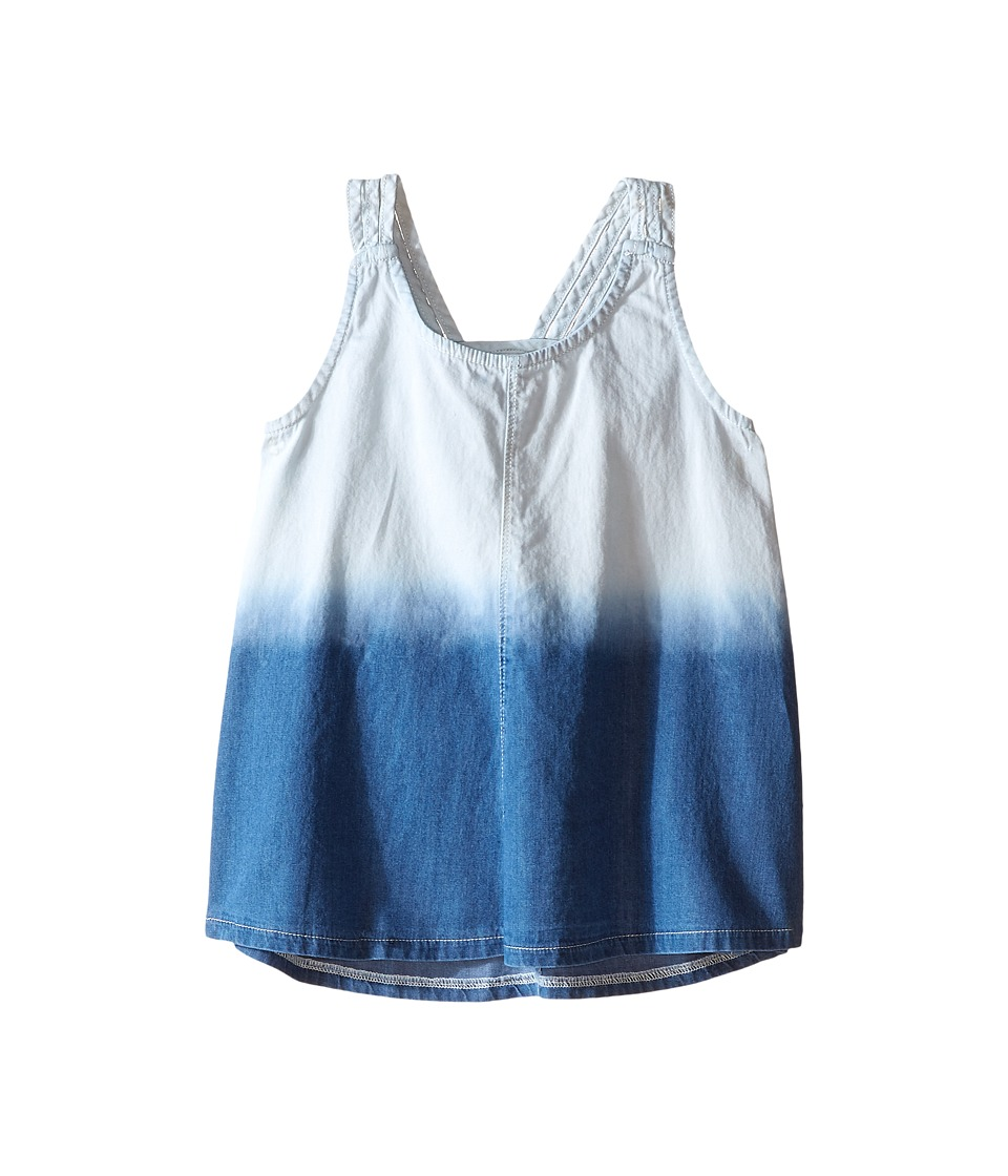 Splendid Littles - Bleach Out Denim Tank Top (Big Kids) (Indigo) Girl's Sleeveless