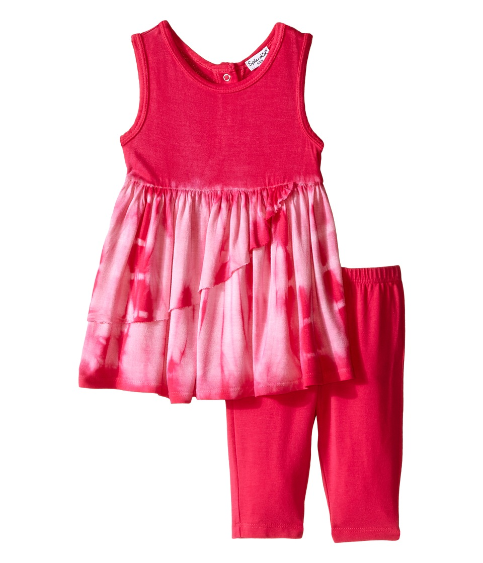 Splendid Littles - Tie-Dye Dress Pants Set (Infant) (Dark Pink) Girl's Active Sets