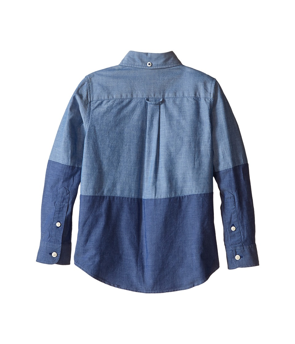 Lacoste Kids - Long Sleeve Bi-Color Chambray Woven Shirt (Little Kids/Big Kids) (Rinse/Light Rinse) Boy's Clothing