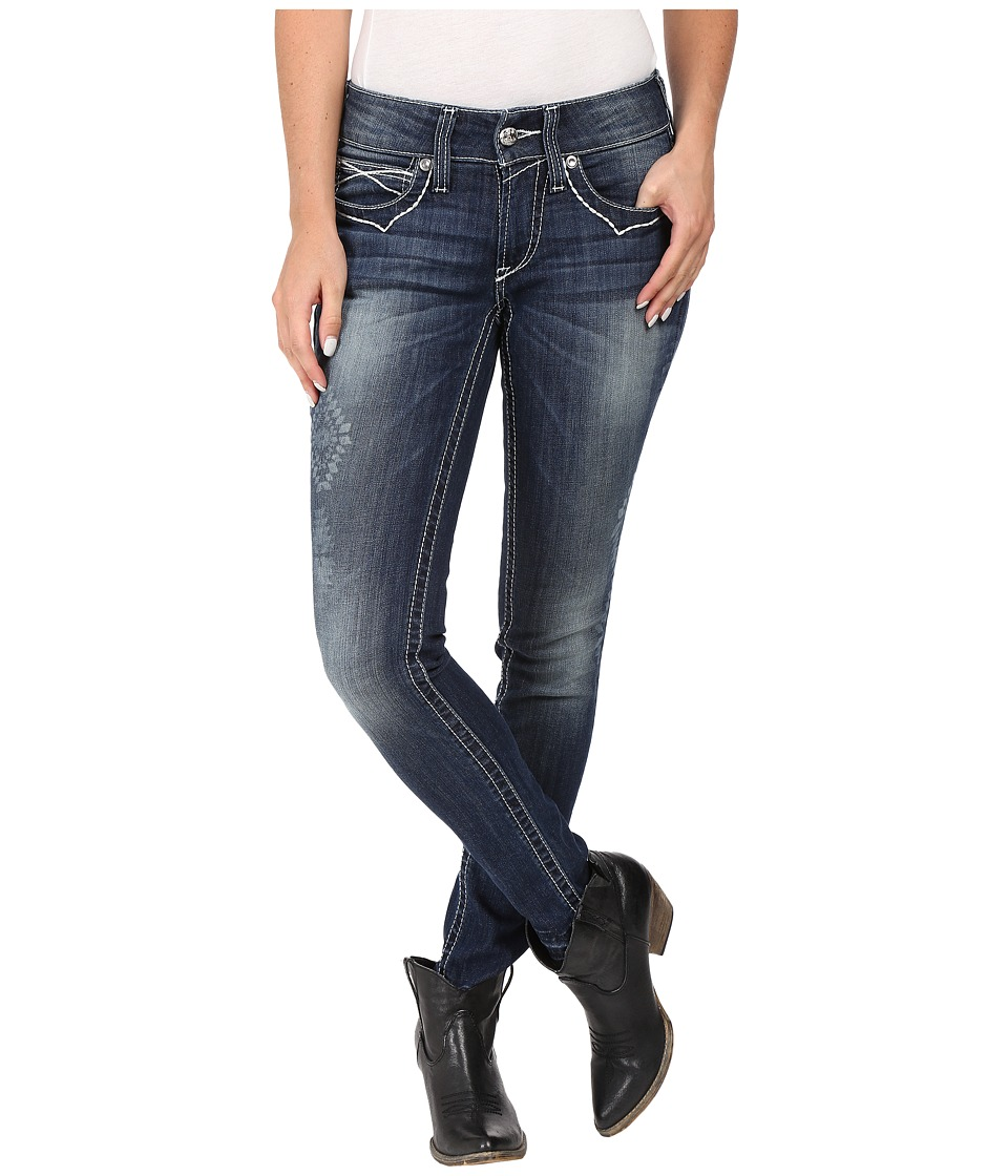Ariat - R.E.A.L. Skinny Aztec in Baltic (Baltic) Women's Jeans