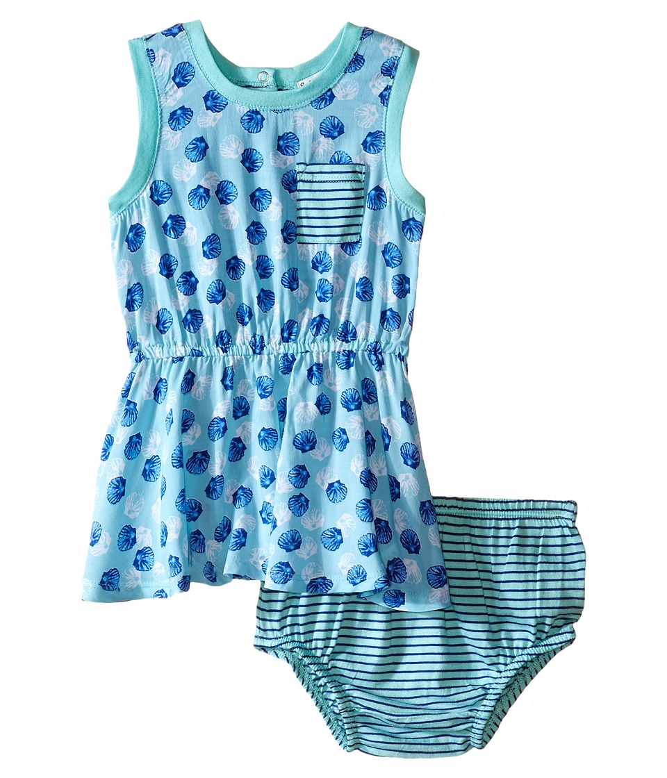 Splendid Littles - All Over Print Dress (Infant) (Aqua) Girl's Dress