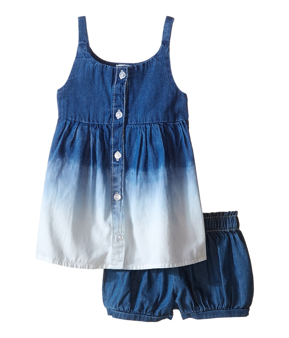 Splendid Littles - Bleach Out Denim Dress (Infant) (Indigo) Girl's Dress