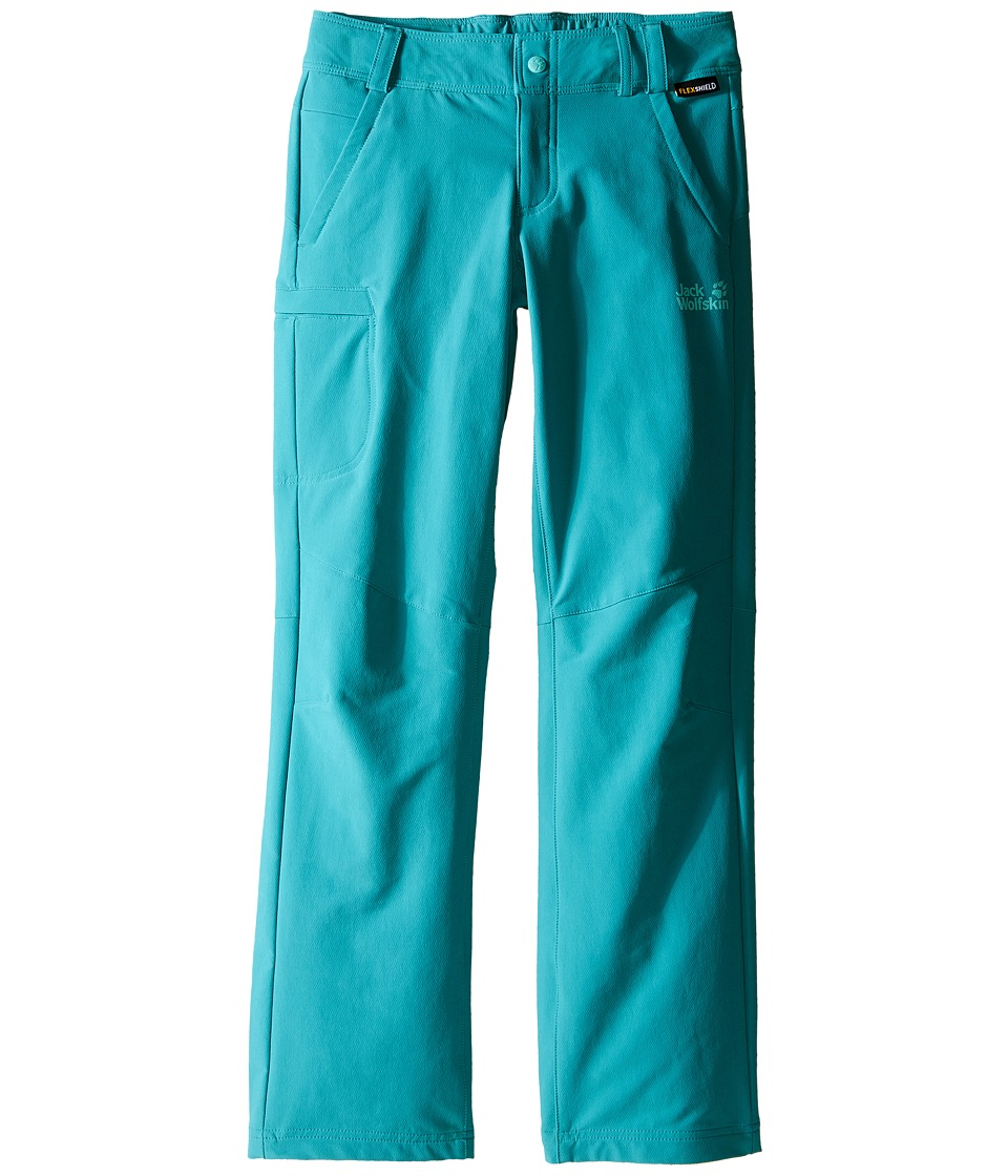 Jack Wolfskin Kids - Activate II Softshell Pants (Little Kid/Big Kid) (Spearmint) Girl's Casual Pants
