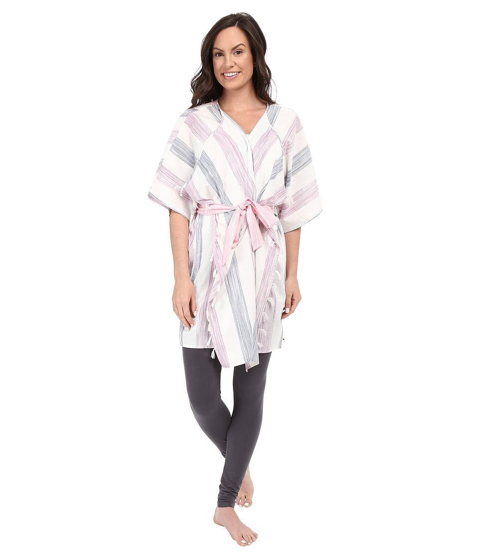 Lucky Brand - Woven Kimono (Gaia Stripes Multi) Women's Pajama