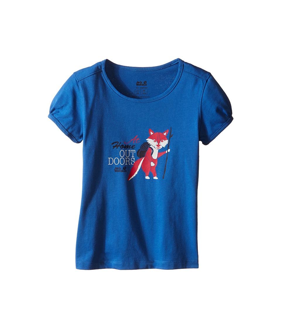 Jack Wolfskin Kids - Wilderness T-Shirt (Little Kid/Big Kid) (Peacock Blue) Girl's T Shirt