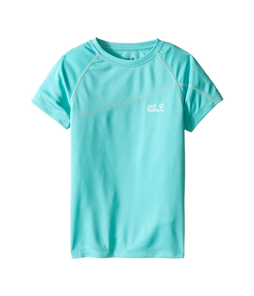 Jack Wolfskin Kids - Active T-Shirt (Little Kid/Big Kid) (Pool Blue) Girl's T Shirt