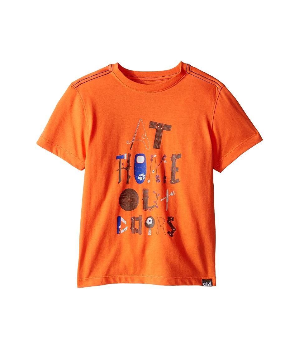 Jack Wolfskin Kids - Wilderness T-Shirt (Little Kid/Big Kid) (Watercress Blossom) Boy's Short Sleeve Pullover