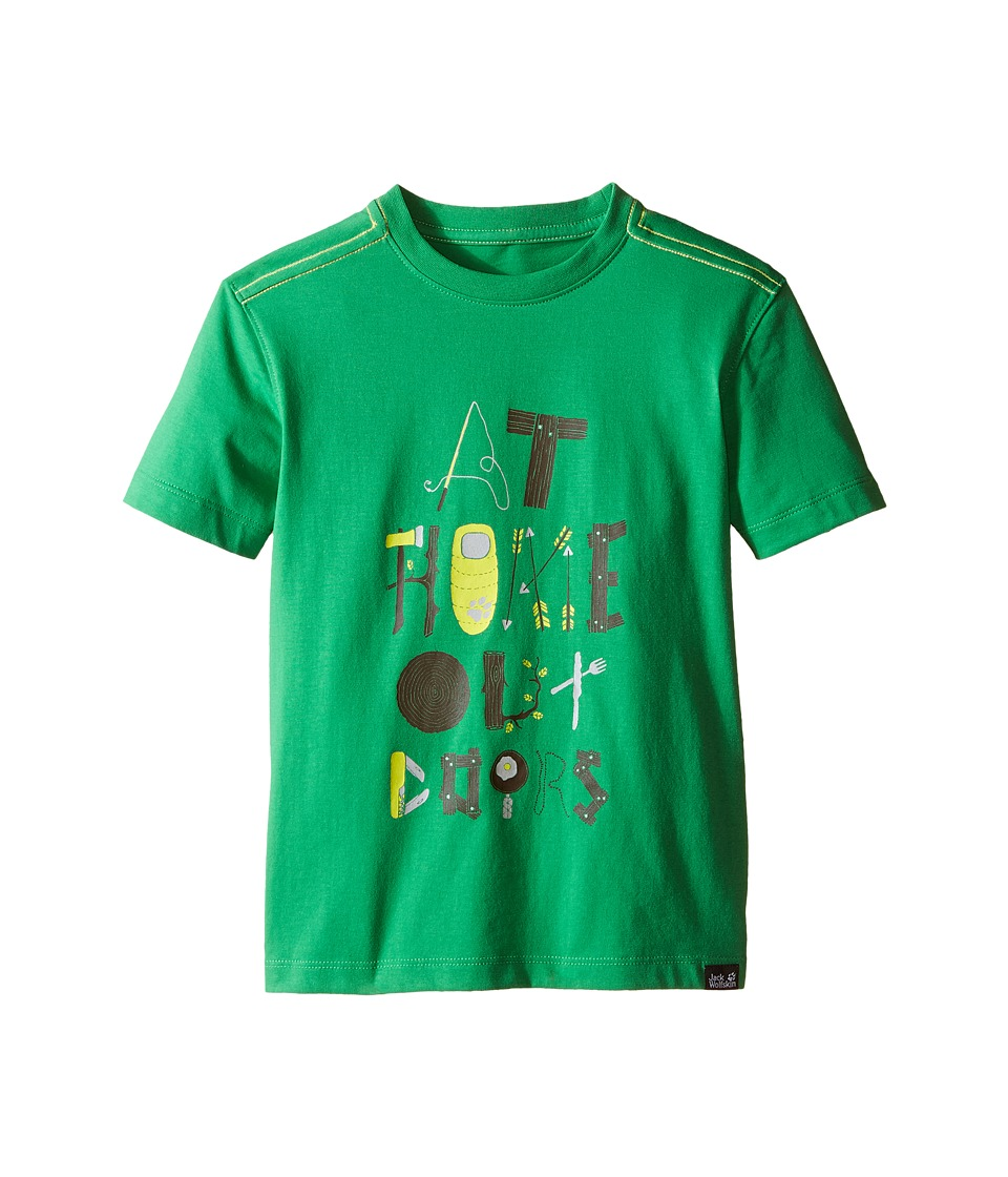 Jack Wolfskin Kids - Wilderness T-Shirt (Little Kid/Big Kid) (Seagrass) Boy's Short Sleeve Pullover