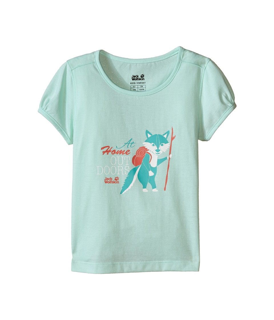 Jack Wolfskin Kids - Wilderness T-Shirt (Little Kid/Big Kid) (Fresh Breeze) Girl's T Shirt