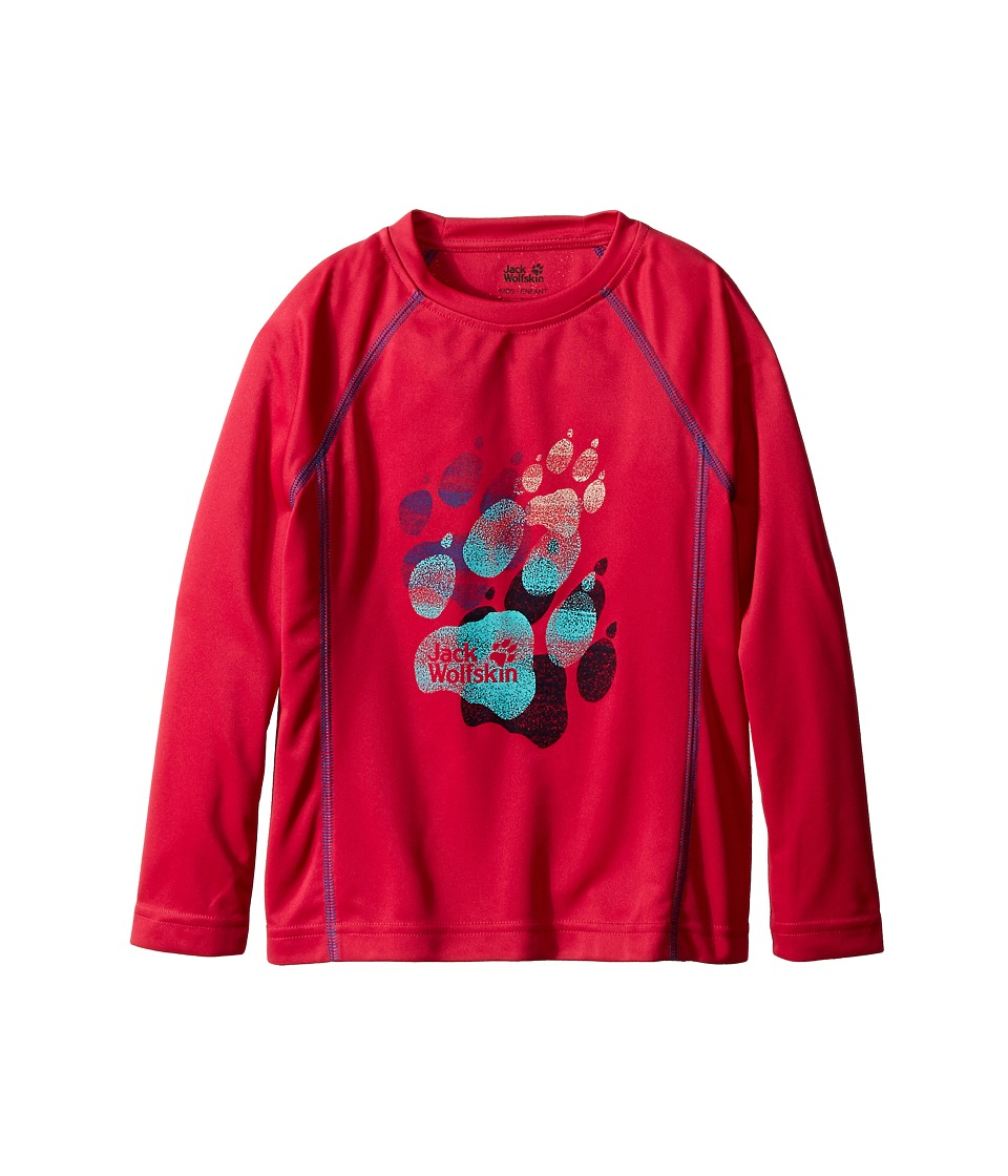 Jack Wolfskin Kids - Sunshade Long Sleeve (Little Kid/Big Kid) (Pink Raspberry) Girl's Long Sleeve Pullover